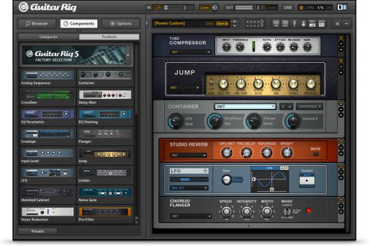 FREE AMP SIMULATION AND EFFECTS RACK